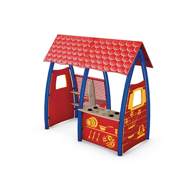 Dramatic Play House - Red and White Roof