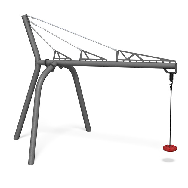 Single Cantilever Swing with Skyline Seat