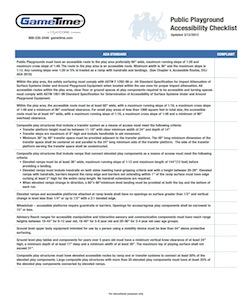 Download our ADA Playground Compliance Checklist