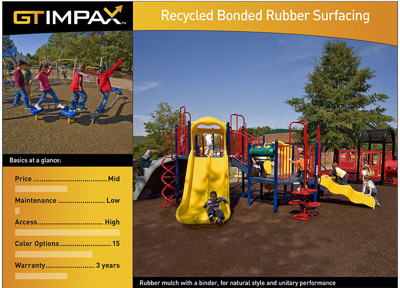 Recycled Bonded Rubber Playground Surface