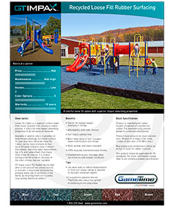 Download the Recycled Loose Fill Rubber Specification Sheet